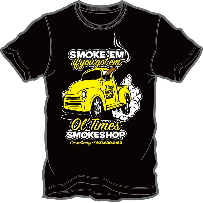 Ol' Times Smokeshop Black T-shirt Large